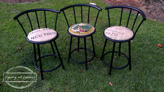 bar stools up close