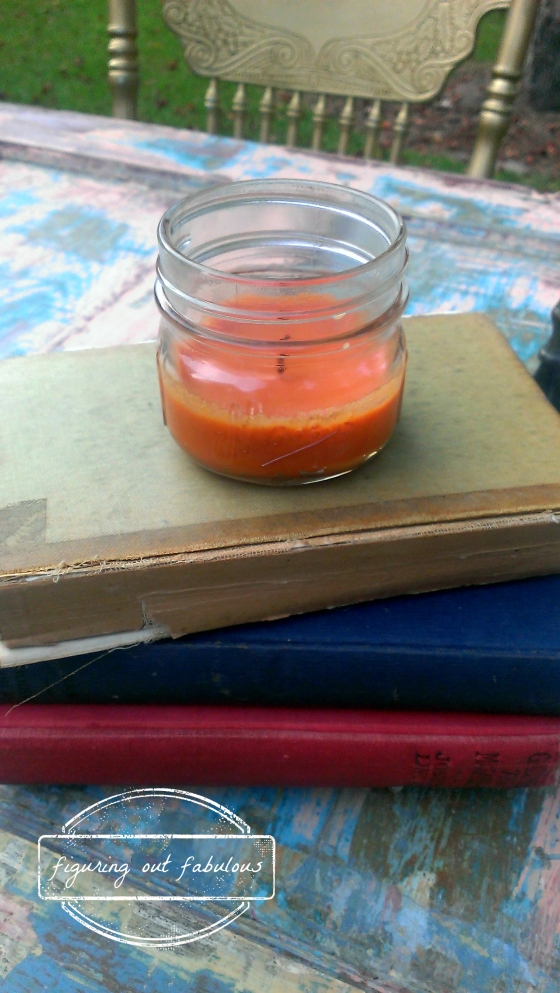 door table books candle