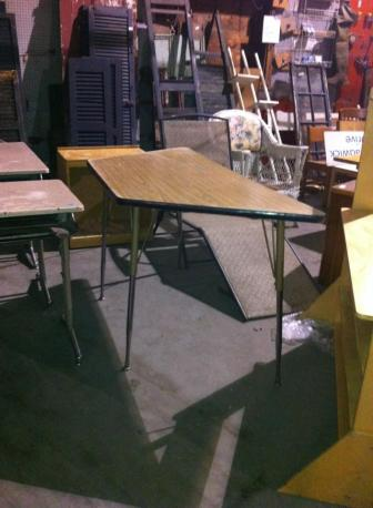 school table before