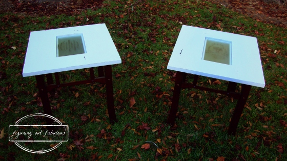 end tables glass square