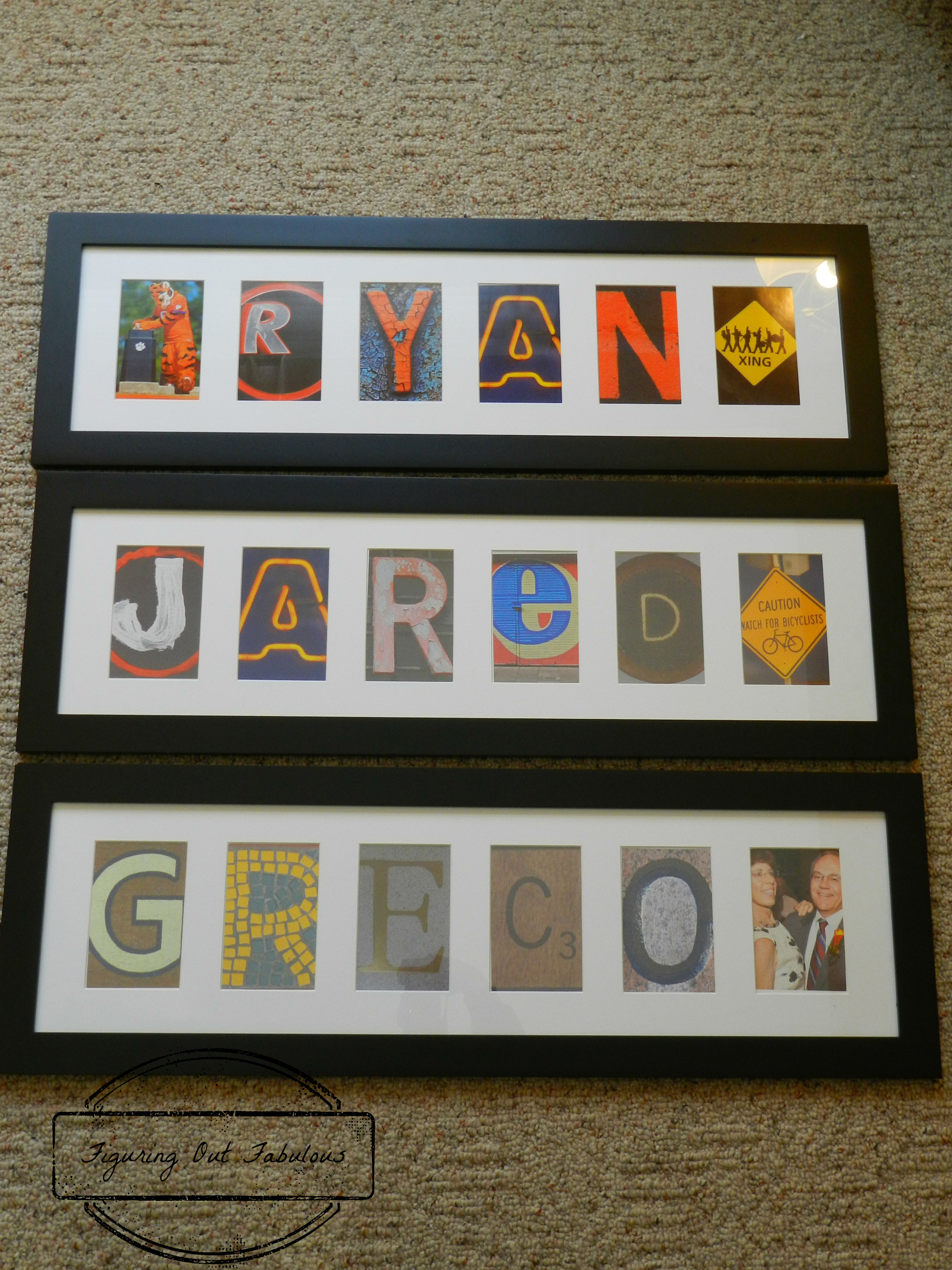 Name in a Frame! | Figuring Out Fabulous