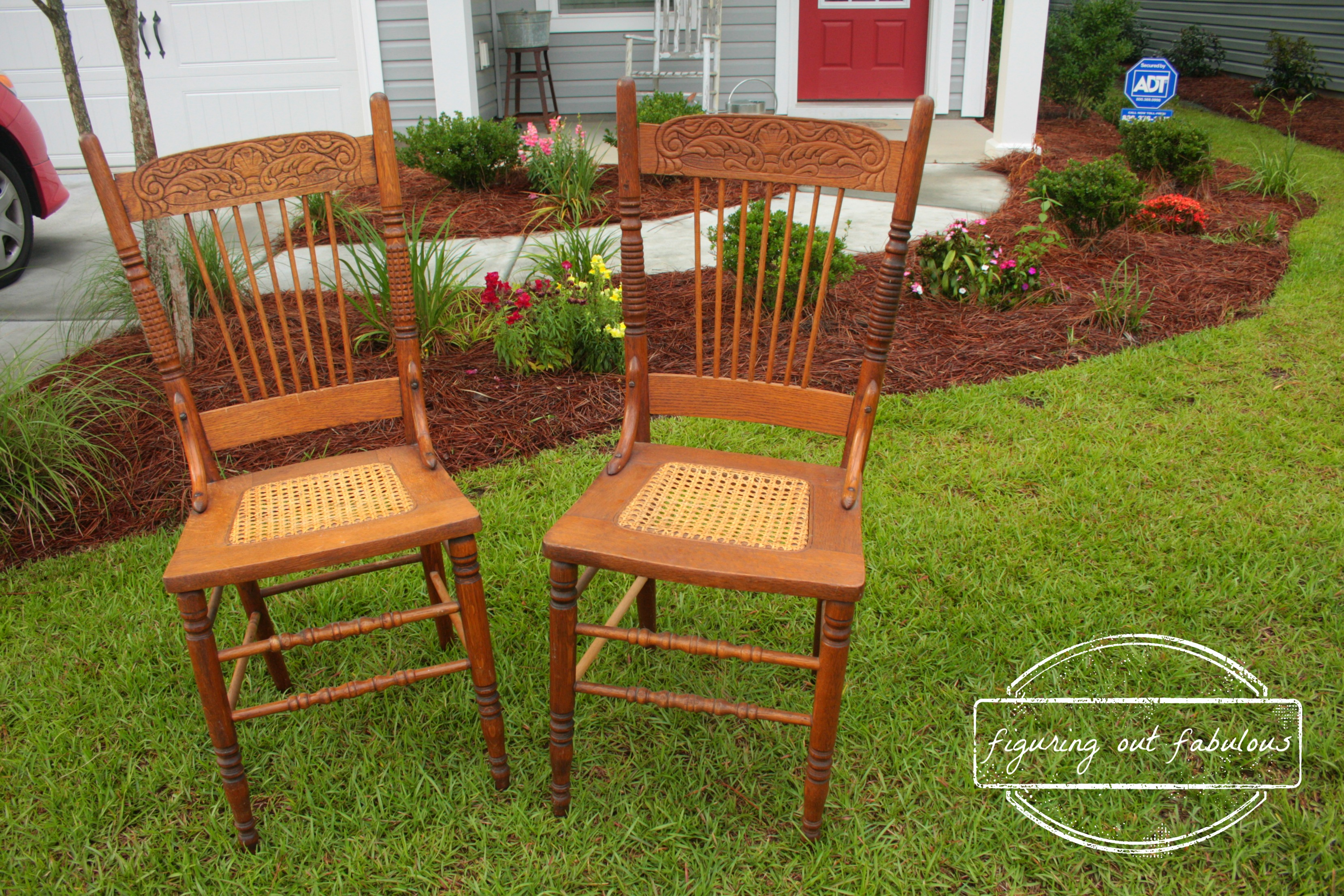 Captivating Antique Cane Bottom Chairs