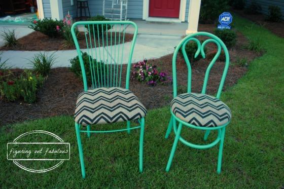 sea glass chairs with wm