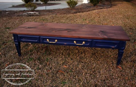mcm coffee table wood top