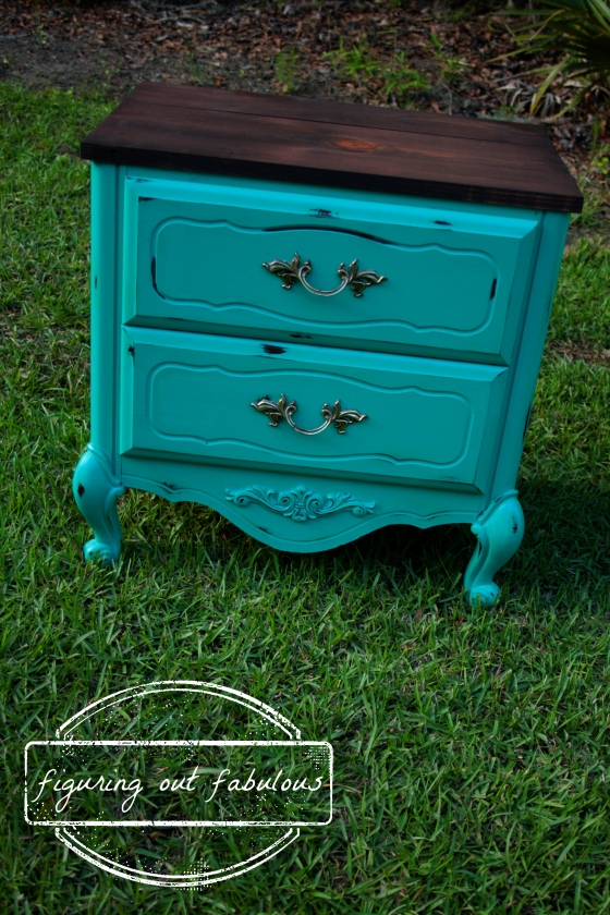 teal nightstand 2