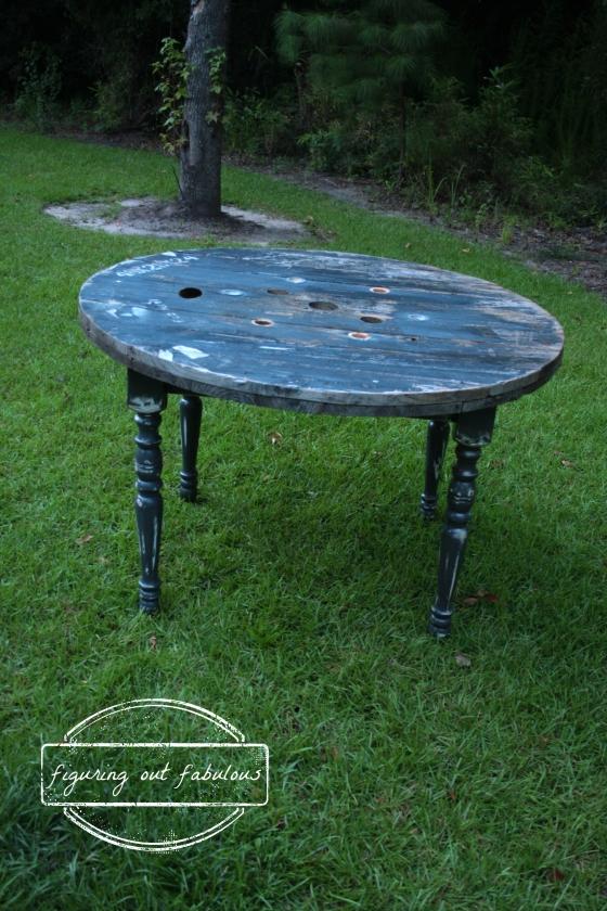 spool table top